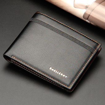 Harga Casual leather business cross-section short paragraph wallet men's wallet