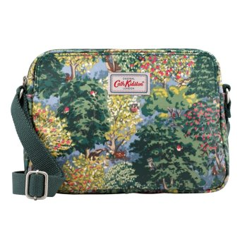 Harga Cath Kidston Matt Oilcloth Crossbody Mini Busy Bag 16AW Ashdown Forest Mid Blue 632645 - intl