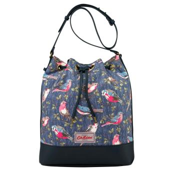 Harga Cath Kidston Canvas & Leather Bucket Bag Drawstring Bag (Small Garden Bird)