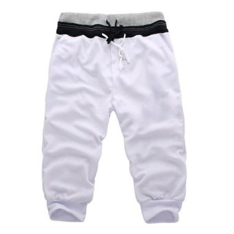 Harga Men Trousers Shorts Sports Pants Harem Training Dance(Export)