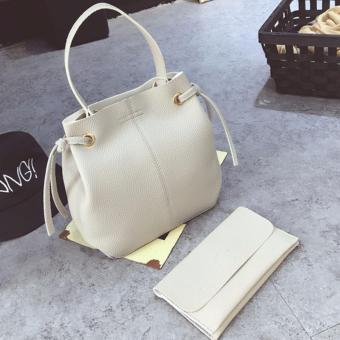 Harga Bucket Bag Comes With Pouch White