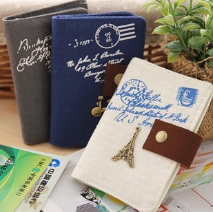 Harga The new miss han ban a number of creative cute canvas card holder antimagnetic card holder card package 20 card slots