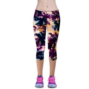 Harga LALANG Exercise Leggings Sports Fitness Stretch Cropped Pants 29#