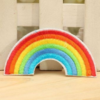 Harga Rainbow Embroidered Iron / Sew On Patch Clothes T Shirt Pride Badge Transfer NEW - intl