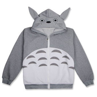 Harga Ufosuit Hot Anime Totoro Gray Jacket Casual Style for Men/Women - intl