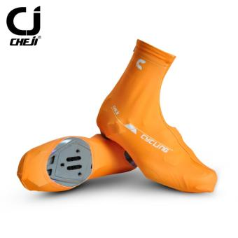 High Quality Cheji Sports Bicycle Shoes Anti-Slip Zippered Protective CyCling Shoes Covers (Orange) - intl - 2