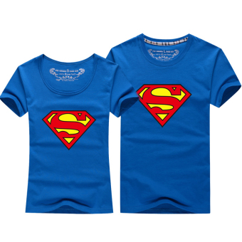 Harga Superman cartoon New style short-sleeved men and women casual T-shirt