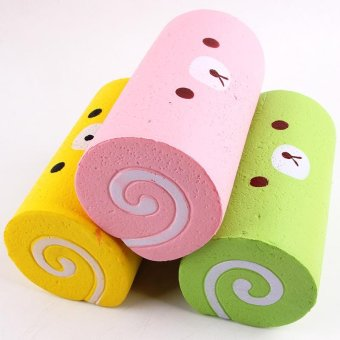 Slow Rising Squishy Swiss Roll Scented Slow Rising Hand Wrist Toy - intl - 2