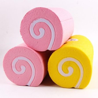 Slow Rising Squishy Swiss Roll Scented Slow Rising Hand Wrist Toy - intl - 4