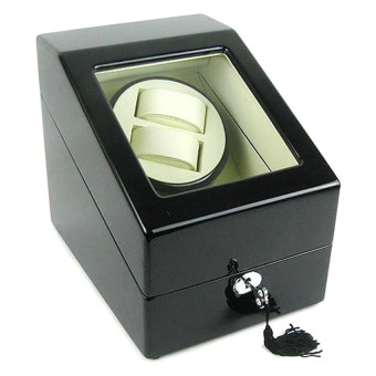 Harga Watch Winder 2+3 Black with Cream Interior