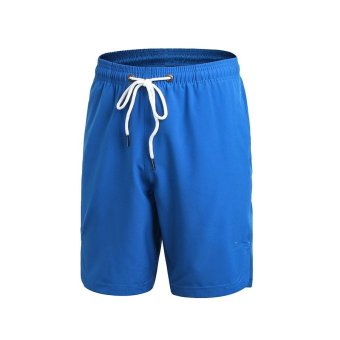 Harga Men Sports Athletic Running Fitness Shorts Quick Dry Training Jogging Workout Basketball Shorts Pant - blue - intl