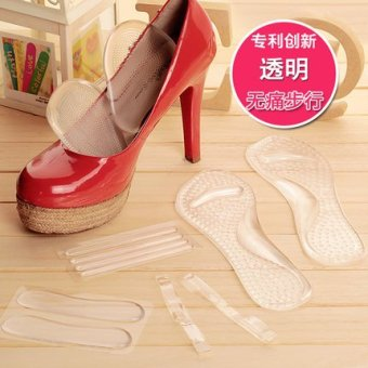 Harga Yi yan tang heels 5 piece slip insole forefoot pad foot wear to keep abreast of the seventh pad thin drawstring shoe stickers (Other size + Transparent)