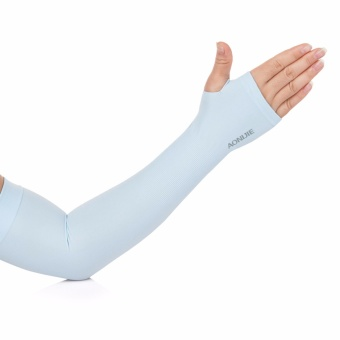 Harga Aonijie E4039 Soft Cool Compression Arm Sleeve UPF50+ With Finger Hole Light Blue For Outdoor Sport - intl