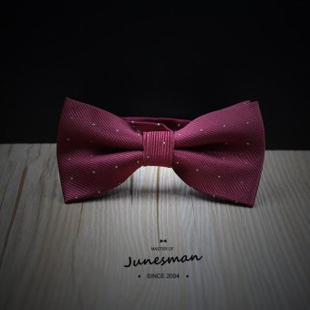 Harga Handmade bow tie groom wedding dress business casual korean version of the wine red