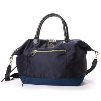 Harga 【anello Legato Largo】 High Density Nylon 3 WAY Shoulder Bag tote bag crossbody bag original japan (Large size, NAVY)