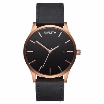 Harga MVMT Rose Gold/Black Leather