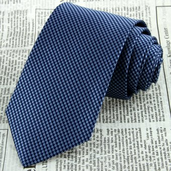 Navy Blue Floral Men's Neck Tie 100% Silk Jacquard Woven Classic Wedding Necktie JS19
