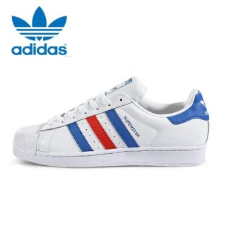 Harga Adidas Originals Superstar Casual Shoes BB2246 White/Blue/Red - intl