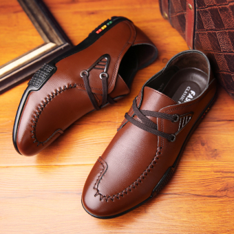 Men 's fashion british business casual leather shoes - intl - 4