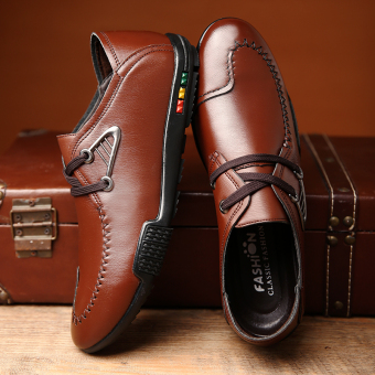 Men 's fashion british business casual leather shoes - intl - 3
