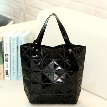 Harga Black Prism Design Trapeze Diamond Lattice Folding Laser Bag