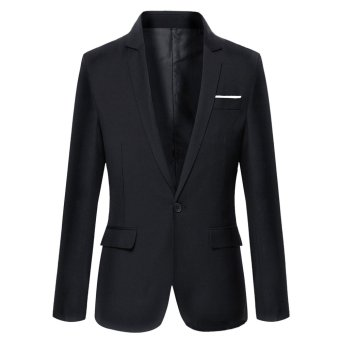 Harga Good Quality Formal Business Men Suit Blazer Jacket(Black) - intl