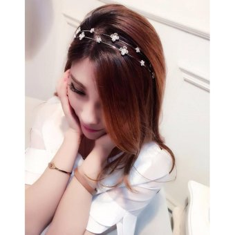 Harga TWO ROW FLOWERY HAIR BAND [B01]