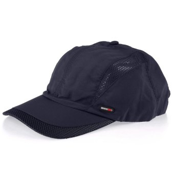 Harga Outdoor Sport Unisex Casual Quick-drying Baseball Hat Mesh Cap (BLUE) - intl