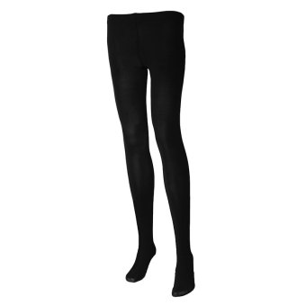 Women Sexy Pantyhose Nylon Tights 80D Velvet Candy Color Stockings Step Foot Seamless Pantyhose (Black) (Intl)