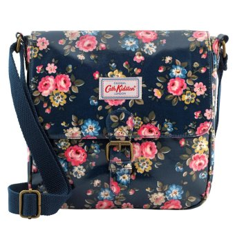 Harga Cath Kidston Oilcloth Mini Satchel Bag Crossbody Bag Latimer Rose (Dark Navy) 556644 - Intl