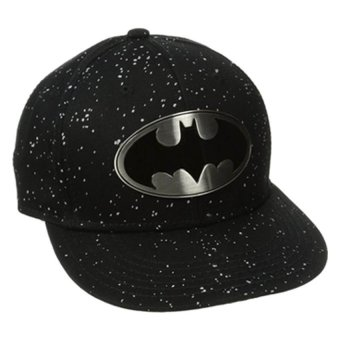 Batman Men's Batmal Metal Badge Flat Brim Hat