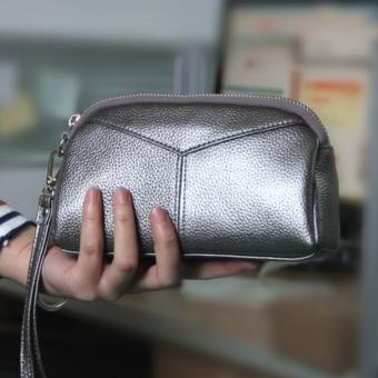 Harga Victory Ladies wallet Han edition Fashion leather Zero wallet(Silver) intl. - intl