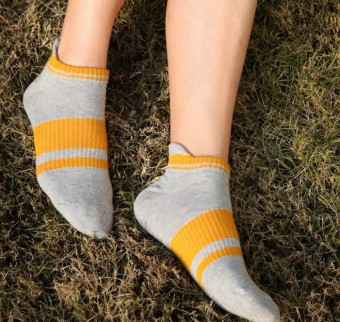 Spring and Autumn short tube socks fine comb cotton socks female breathable sports outdoor socks cotton socks mountaineering socks to help low socks female (Light gray)
