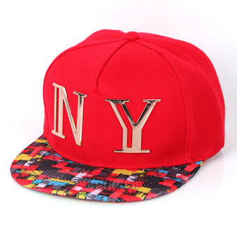 Harga The new fashion lovers baseball cap female spring and autumn men's korean version of the influx of hip-hop hat cap flat along the hat summer (Red)
