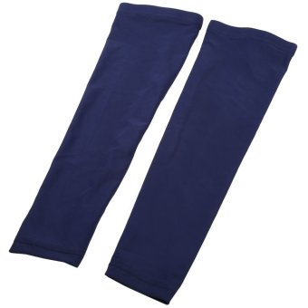 Harga 1 Pair Cycling Arm Sleeve Warmers UV Sun Protection Oversleeves - L (BLUE) - intl
