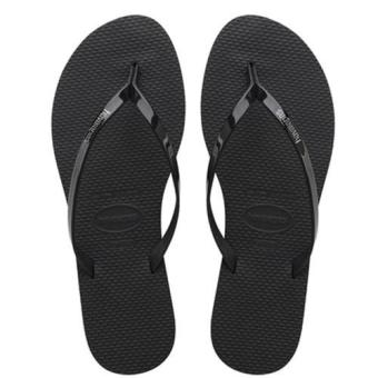 Harga Upgraded Version Havaianas Women's Slim Filp Flop Beach Shoes Slipper For Unisex Christmas Gift Birthday Present Black - intl