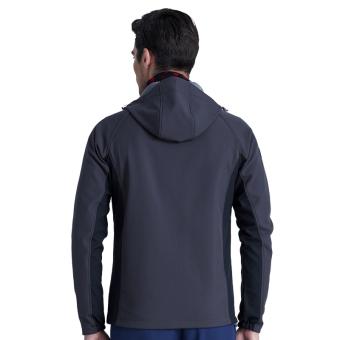 Men Outdoor Hiking Mountain Softshell Jacket Waterproof Autumn Winter Explore Outwear Windproof Jackets Wind Coat Hooded – dark grey - intl - 2