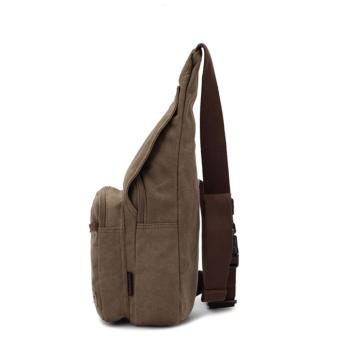 Men Canvas Chest Bag Man Crossbody Shoulder Waist Sling Beg - intl - 2
