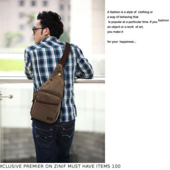 Men Canvas Chest Bag Man Crossbody Shoulder Waist Sling Beg - intl - 5