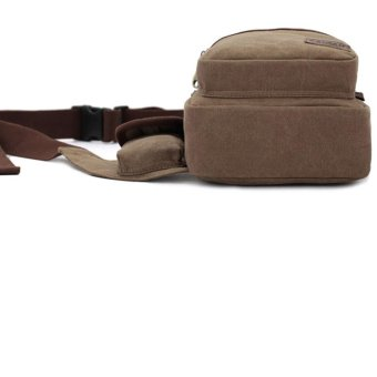 Men Canvas Chest Bag Man Crossbody Shoulder Waist Sling Beg - intl - 4