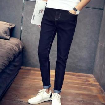 Piatter Men's jeans Haren pants feet Black - intl - 2
