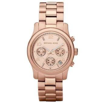 Michael Kors Women's Rose Gold Staineless Steel Strap Watch MK5128