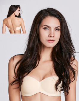 Harga Stitch Strapless Clear Back Bra(Nude)
