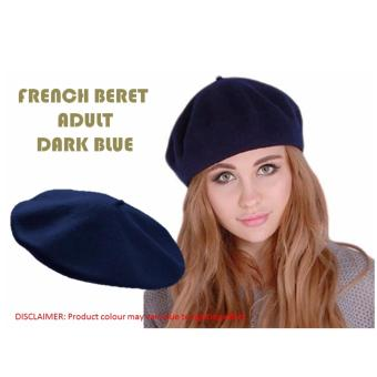 Harga French Beret Adults (Dark Blue)