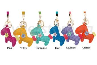 Harga Patterned Horse Cutout Design Bag Charm (Yellow)