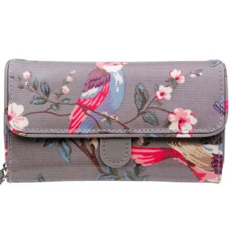 Harga Cath Kidston WALLET GREY COLOR FOLDED TRIMMED WALLET