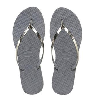 Harga Upgraded Version Havaianas Women's Slim Filp Flop Beach Shoes Slipper For Unisex Christmas Gift Birthday Present Silver - intl