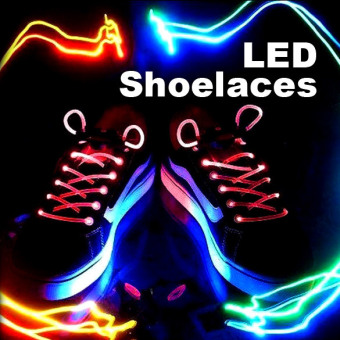 Harga Stunning Flash Light Glow Shoelaces Shoe Lace