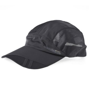 Harga Unisex Outdoor Sport Mesh Quick-drying Baseball Golf Tennis Hat Cap (GREY) - Intl