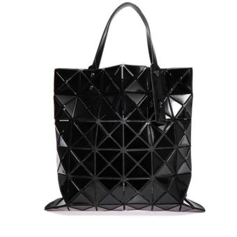 Harga Prism fashion tote bag geometric diamond shape folding handbag shoulder bag (BLACK)